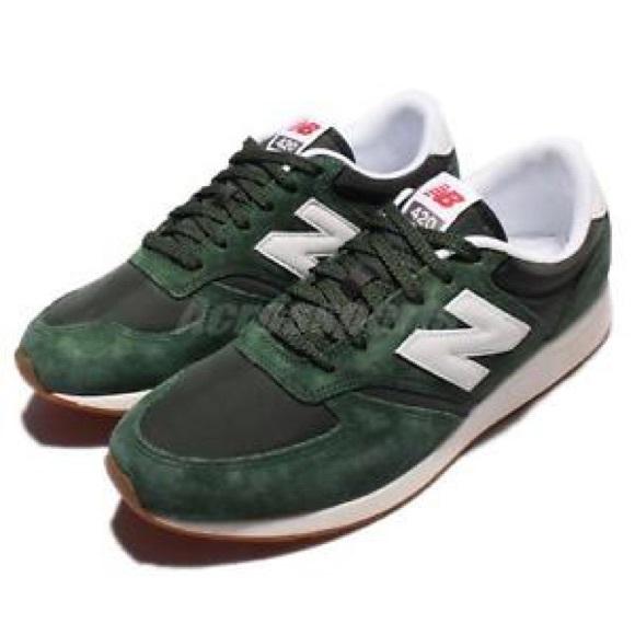 brindis Albany bostezando  New Balance Shoes | 420 Green Suede Sneakers | Poshmark